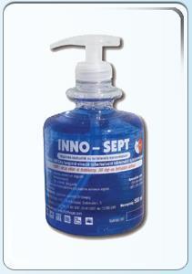 Fertőtlenítő tisztító gél pumpával kézre és lábra INNO-SEPT