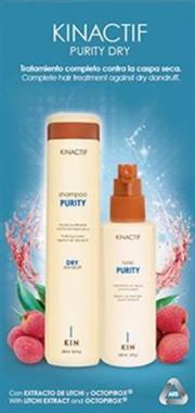 Hajkezelő csomag zsáraz korpás hajra Kinactif Purity Dray