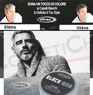 Vifrex Black Wax fekete hajszínező szürke és fekete ősz hajakhoz szakállra és bajuszra