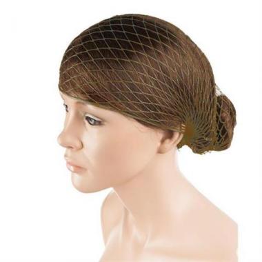 Horgolt erős hajháló - hd-barna