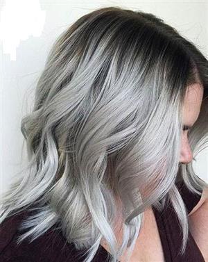 Nagyon világos ezüst szürke haj készítő hajfesték és szőkítőpor szett KINBLOND5