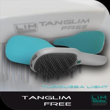 Hajkisimító és szuper hajbontó kefe Tanglim Exclusive Free-világos türkiz