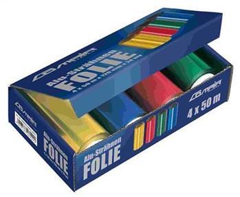 Melírozó színes fólia tépős dobozban 4 db (kék, zöld, piros és sárga)