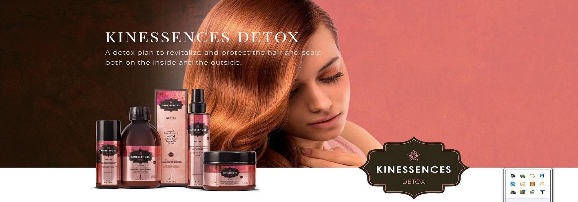 Kinessences Detox hajfiatalító, haj öregedés gátló, haj és fejbőr méregtelenítő, hajápolók